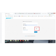 admin password show hide