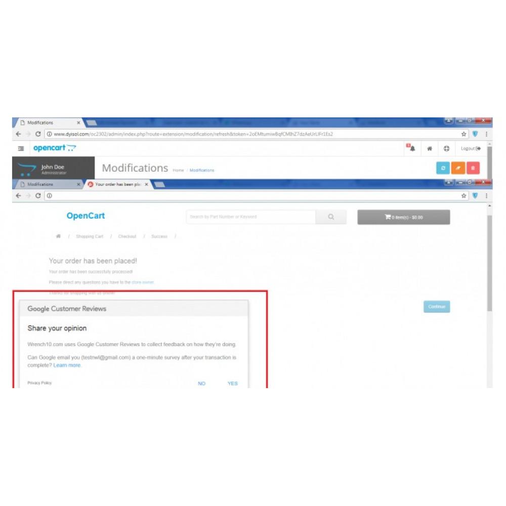 Google customer reviews OCMod